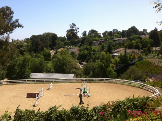 Private riding ring in Rolling Hills Estates CA