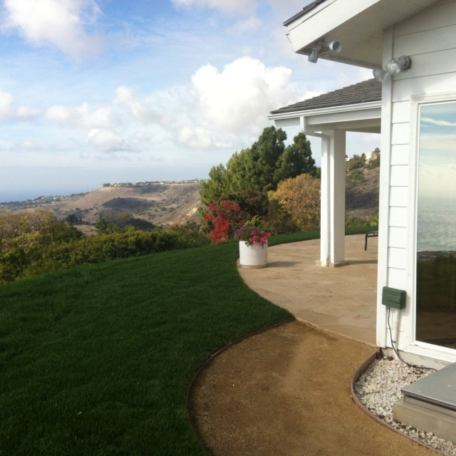 Rolling Hills home with a stunning view of the coast.