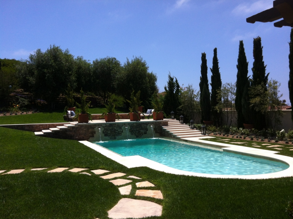 Backyard pool in Palos Verdes