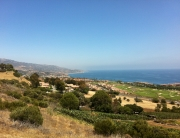 The southern coast of Palos Verdes CA