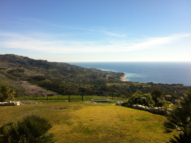 The southern coast as seen from the La Cresta area of Palos Verdes