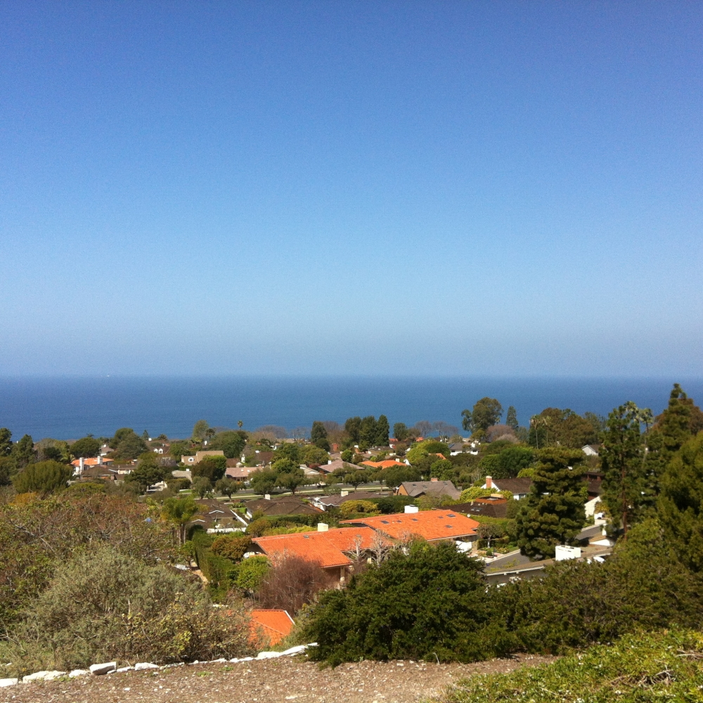 Ocean view from an estate in Monte Malaga
