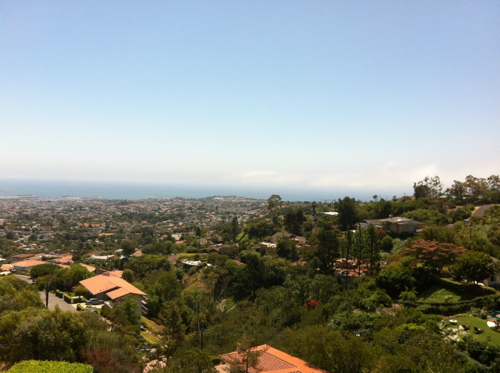 View of the harbor from the east side of Palos Verdes