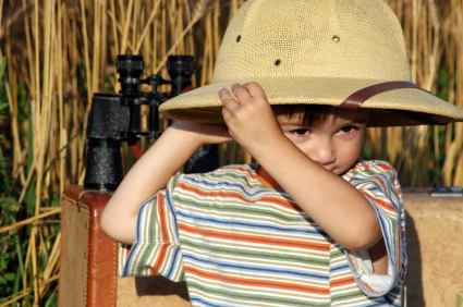 blog safari kid with hat