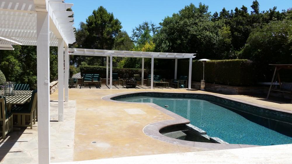 Luxury backyard pool in Rolling Hills Estates