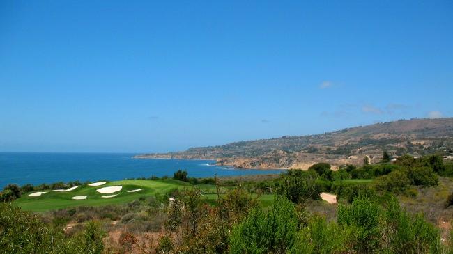 Trumps Golf overlooking Terranea in background